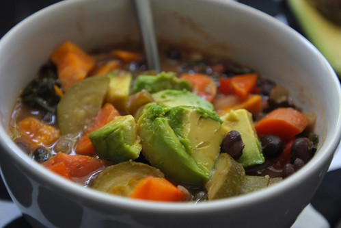 Hearty Black Bean & Sweet Potato Soup
