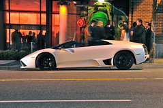 Lamborghini LP640 (+Jethro+) Tags: white night vancouver yaletown supercar roadster murcielago blackrims
