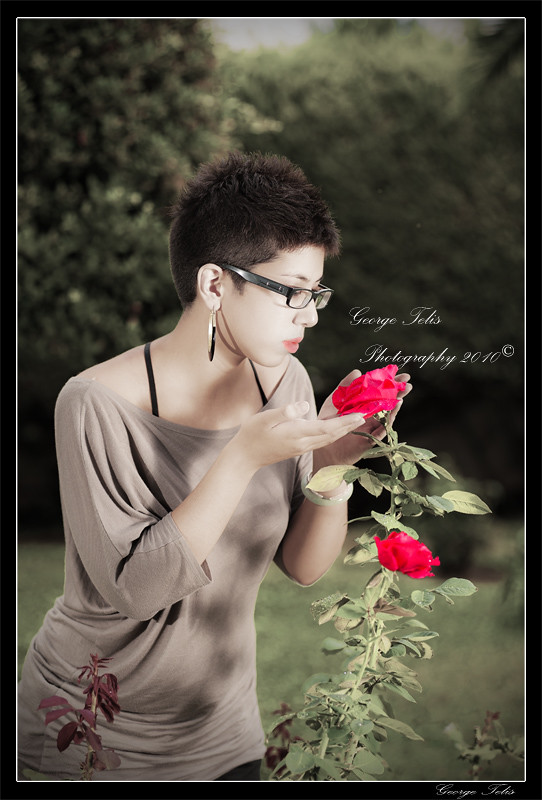 korina and her red roses
