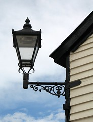 Lamp (Louise and Colin) Tags: old uk england building english heritage history beach lamp architecture coast town wooden kent seaside iron britain bracket victorian culture eu resort british seafront author clapboard regency weatherboard customshouse charlesdickens streetlighting broadstairs vikingbay detalhesemferro