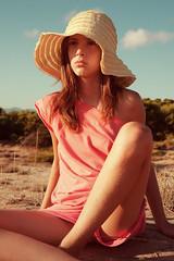 Forever Amber (Ioannis P. Skaltsas) Tags: summer portrait sky sun beach girl hat amber sand afternoon dunes peaceful greece floppy serenity innocence peloponnese galini ioannispskaltsas