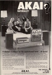 Men Obsessed With Stereos Get The Chicks! (glen.h) Tags: men vintage women 70s 1970s seventies swingers stereos advertisments akai consumerelectronics tapeplayers