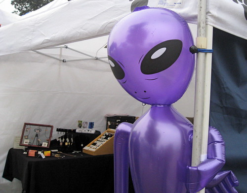 Purple alien dude