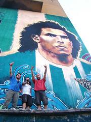 san apache (emy mariani) Tags: mural arte emy mariani lean tevez frizzera