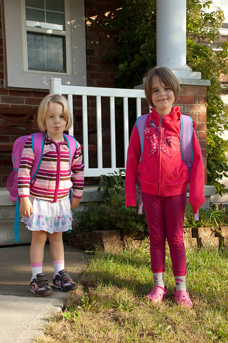 Two Ford girls off to school