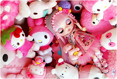 Pinkachu's Pink Dreams (Happily Candied) Tags: pink cute love doll hellokitty sanrio plushies kawaii blythe custom mlc sugarbunnies mymelody mylittlecandy pinkachu