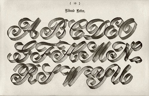 016-Alfabeto Riband-Examples of Modern Alphabets… 1913- Freeman Delamotte