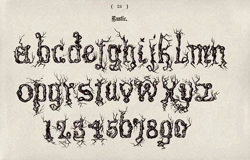 013-Alfabeto minusculas rustico-Examples of Modern Alphabets… 1913- Freeman Delamotte