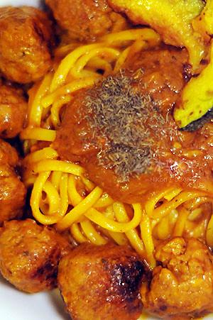 牛肉丸子義大利麵