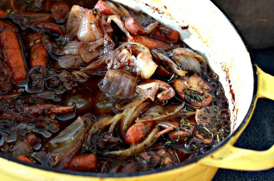 Blueberry & Mushroom Pot Roast