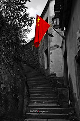 Patriotism (Andy Qiang..Share Moments, Share Life..) Tags: china stairs canon  patriotism tamron 2009 huangshan anhui daoism   a16     stonestairs    chinesenationalflag 450d    qiyunmountain