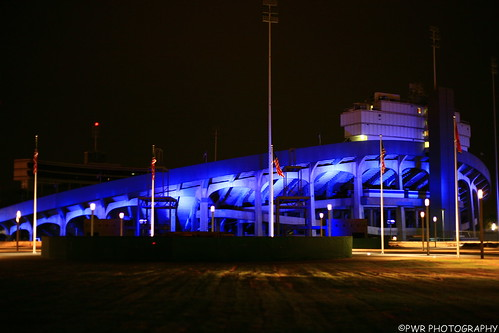 Liberty Bowl lights-Tiger lane 2010
