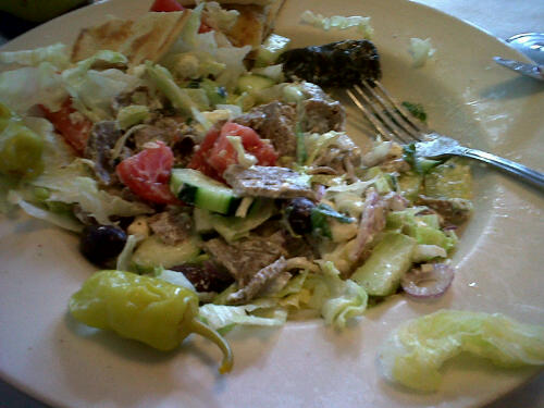 Greek Salad w/ Gyro Meat