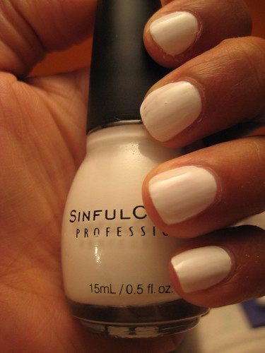 Sinful Colors Snow Me White