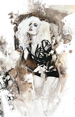 Lady Gaga as seen in Elle Magazine (jen.marie.james) Tags: art fashion illustration digital photoshop painting acrylic drawing digitalart digitalillustration fashionillustration ladygaga