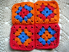 four patch granny (Lindevrouwsweb) Tags: crochet grannysquare haken vierkantjes