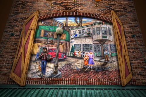 Chinatown Chicago Restaurants. Portillo's Restaurant Mural