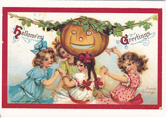Halloween Vintage Reprint Postcard (crayolamom) Tags: holiday halloween vintage postcard oldfashioned reprint