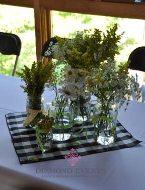 Centerpieces of Wildflowers