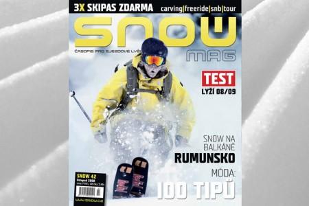 SNOW 42 - TEST LYŽÍ 2008/2009 + 3X SKIPAS ZDARMA