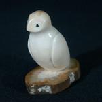 """<b>Owl on Base</b><br/> Unknown, Eskimo American (ivory, ca. 1975) LFAC#2008:01:10<a href=""""http://farm5.static.flickr.com/4086/4996388289_3b203bf498_o.jpg"""" title=""""High res"""">∝</a>"""