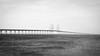 Bridge And Sea (Rutger Blom) Tags: bridge sea bw water blackwhite skåne europe sweden technical sverige scandinavia vatten zweden öresundsbron öresundsbridge panasonicdmclx5