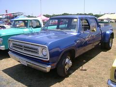 1973 Dodge D-300 Crew Cab (splattergraphics) Tags: truck pickup dodge 1970 mopar carshow carlislepa d300 crewcab duallie carlisleallchryslernationals