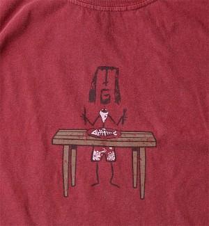 Mad Gim Banquet T-Shirt (Brick - Close Up)