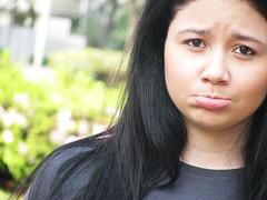 Poser :P (Maíra Freitas ∞) Tags: black hair tristeza sad triste garota menina solidão bico lonelyness