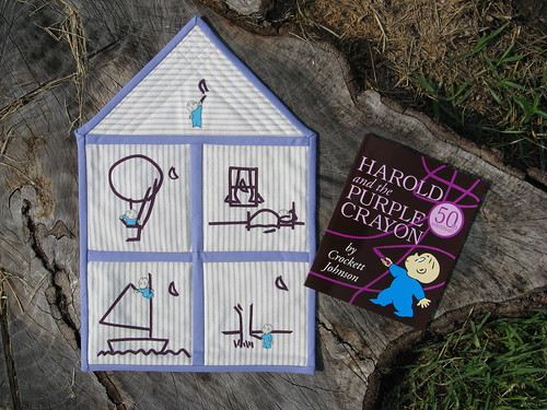 Harold and the Purple Crayon - Quilt and Book
