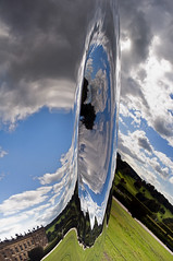 Wormhole (Mr sAg) Tags: eve sculpture house distortion reflection art clouds interestingness interesting auction derbyshire exhibition explore artists fields wormhole manor sculptures sag chatsworth stately whirl sothebys simonharrison mindbending explored beyondlimits richardhudson mrsag