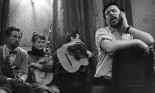 Charles Parker, Peggy Seeger, Dean Glitter and Ewan MacColl in the late 1950's If Charlie Parker Was a Gunslinger