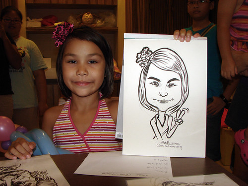Caricature live sketching for birthday party 11092010 - 5
