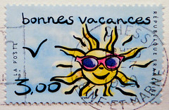 beautiful stamp France 3.00 F (bonnes vacances, happy holidays, beautiful vacation) Francia Frankreich Franca timbres Republique Francaise Fransa french stamps Briefmarke timbre marka selo francobollo Sonne sun sunglasses (...thx for sending stamps :) stampolina) Tags: blue vacation sun sol sunglasses azul french glasses soleil holidays blauw blu urlaub stamp porto blau sole sonne timbre  niebieski mavi postage franco biru bleue vis selo marka soce bl sello asul sininen blou  postagestamps pulu   briefmarke    francobollo plava timbres kk  blr  zils mlynas modr  frimaerke  timbru azzur    muxanh     bollato postapulu jyu  yupiouzhu  perangkoperangko