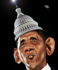 Capitol Hat (Obama's crown) (The PIX-JOCKEY (visual artist)) Tags: portrait usa hat photoshop joke president contest picture fake humour capitol vip photomontage chop caricature crown obama satira caricatura parodia robertorizzato pixjockeyfotomontaggi