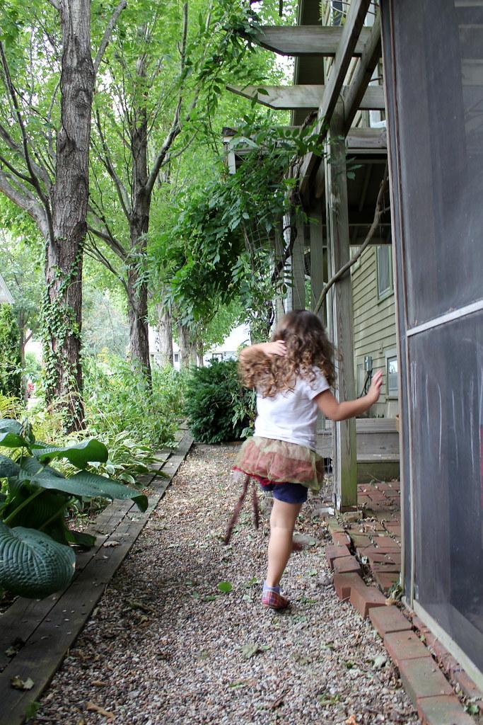 skipping garden fairy