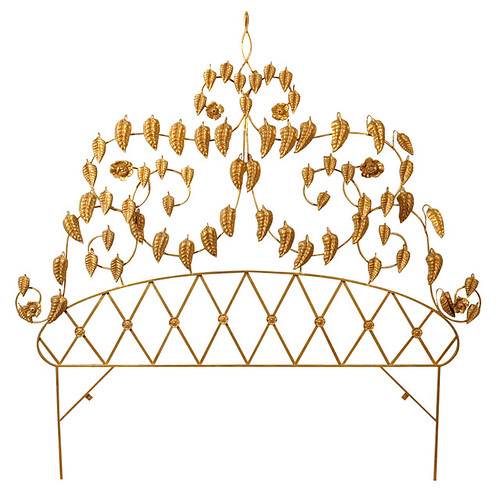 brass headboard via home 1stdibs