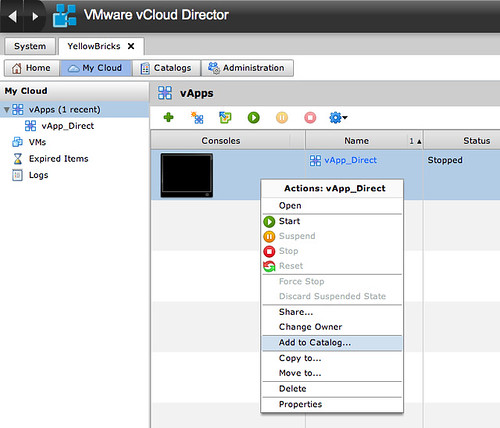 RE: Migrating your VMs from vSphere to vCloud Director and vice