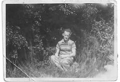 Horace Whittaker, late 1940's. (cheryldecarteret) Tags: garden grandfather 1940s guernsey