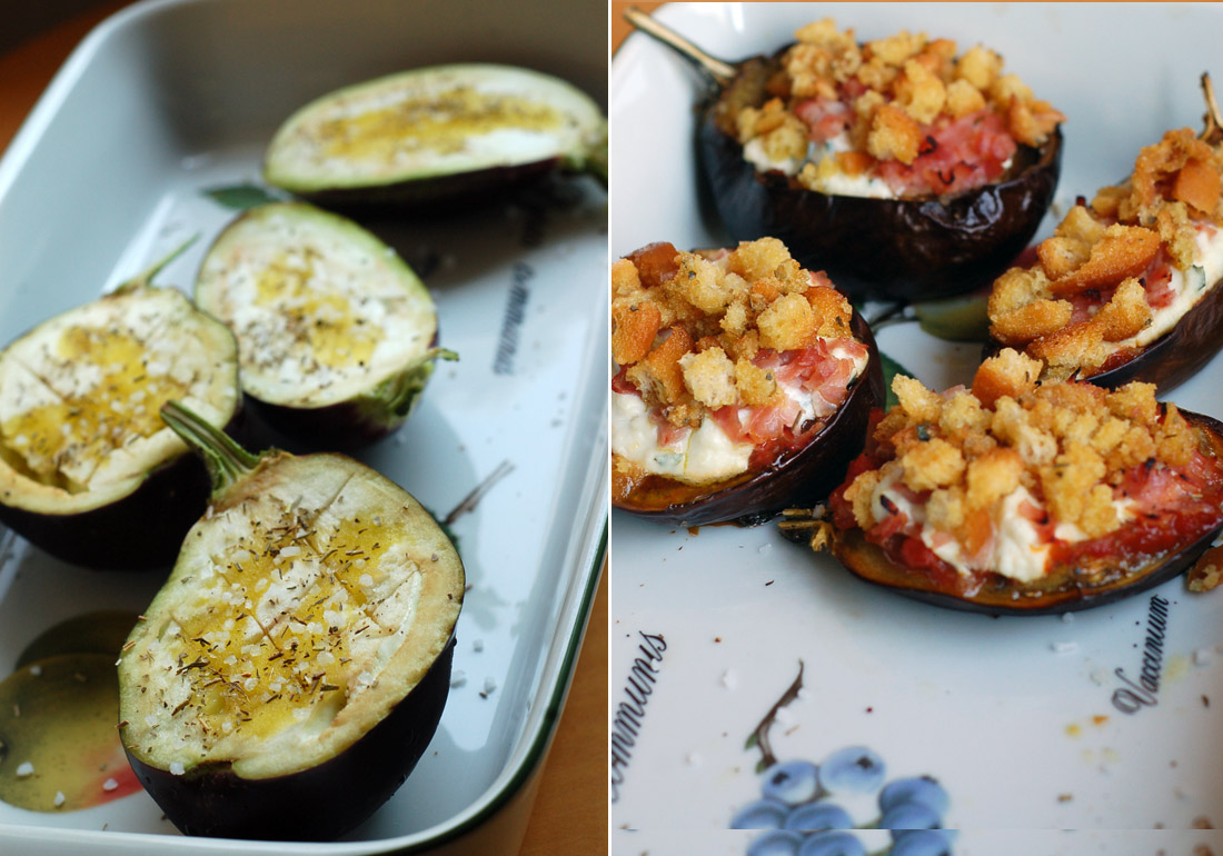 beringelas recheadas // stuffed aubergines