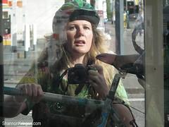 testing fuji HS10 (shannonkringen) Tags: seattle selfportrait reflection me window bicycle self mirror fuji capitolhill shannonkringen goddesskring fujifinepixhs10