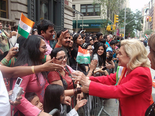 Carolyn B. Maloney at India Day Parade