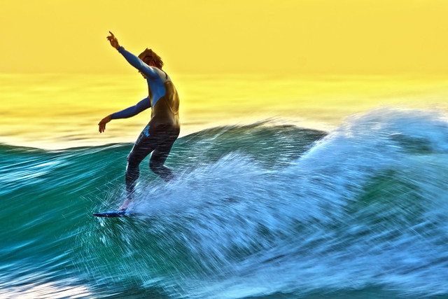 Motion Blur Surfing shots