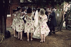 Bridal party (Lizzie Staley) Tags: wedding party floral garden groom bride bridesmaids bridal ushers bunting lauraashley