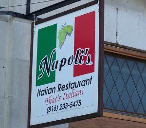 Napolis Italian Restaurant sign