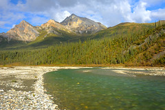 Matthews River 1 (thefisch1) Tags: mountain water alaska river scenic vista remote flowing wilderness breathtaking matthews
