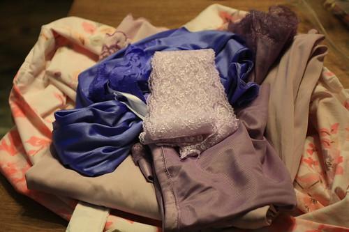 dyed slips