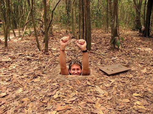 Cu Chi Tunnels - Viet Cong Underground System - Greg Going Under