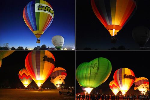 Spettacolo notturno di mongolfiere illuminate a Ferrara Balloons