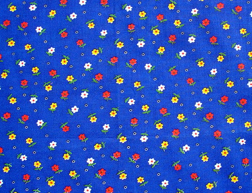little daisies on a blue background